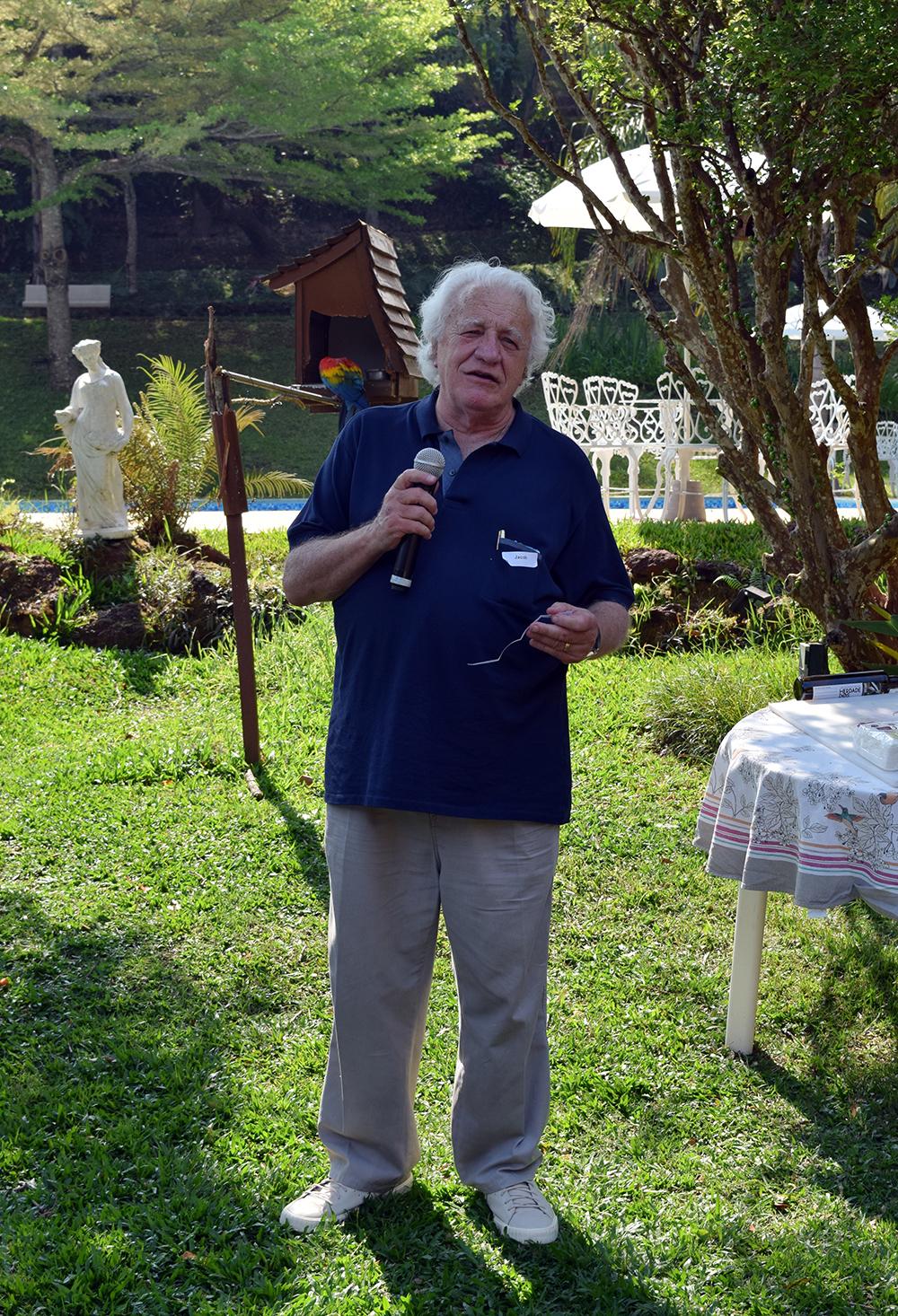 O professor Jacob Máximo foi um dos participantes do Momento Experiência.