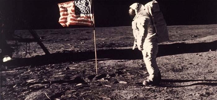 Chegada do homem à Lua: o astronauta Edwin E.