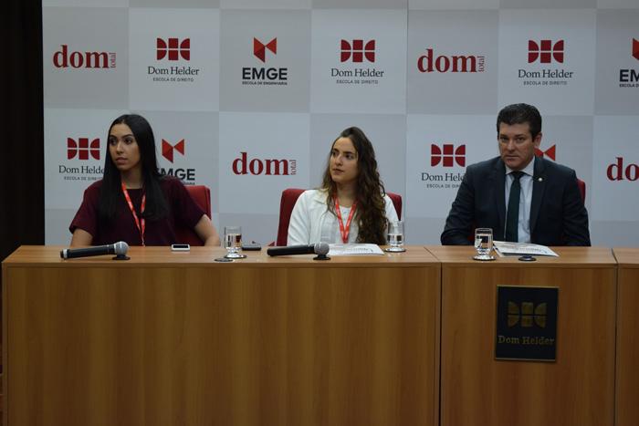 Amanda Batista e Paula Brener, do ICP Jovem, e Fernando Martelleto, diretor da Adep.