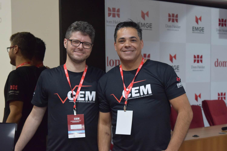 Professores da EMGE Frederico Furst e Fischer Stefan que elaboraram os desafios do CEM.