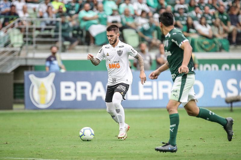 Nathan marcou o gol do Atlético contra o Palmeiras