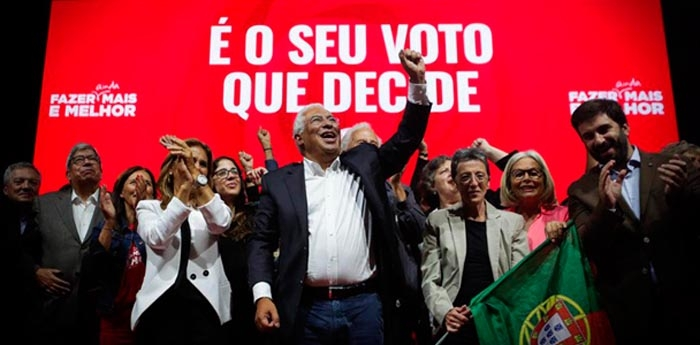 Partido do premiê António Costa sai fortalecido, mas com margem insuficiente para alcançar maioria no Parlamento.