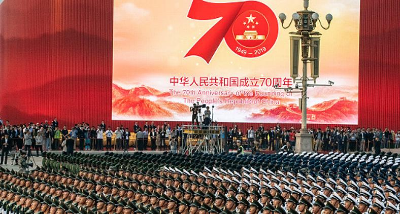 Governo chinês celebrou o aniversário de 70 anos da sua revolução e de domínio do Partido Comunista. (Kevin Frayer/Getty Images)