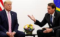 Bolsonaro fez concessões unilaterais, como dispensar a exigência de visto a norte-americanos, mas Brasil não teve apoio dos EUA (Alan Santos/PR)