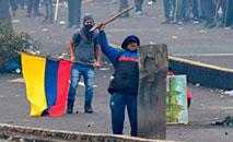 A principal organização indígena do Equador afastou a possibilidade de diálogo com o governo. (Martin Bernetti/AFP)