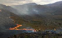Incêndio interrompe atividades no Parque Nacional da Serra do Cipó (Divulgação Bombeiros)