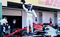 A Mercedes de Valtteri Bottas conquistou seu sexto título consecutivo de  construtores (AFP)