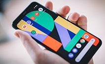 """O novo telefone Pixel 4, em um evento de lançamento de produtos do Google chamado """"Made by Google"""", em 15 de outubro em Nova York (AFP)"""