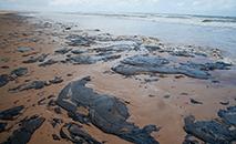 A ideia de instalar barreiras de contenção para reter o óleo no litoral de Sergipe tem encontrado dificuldades. Estruturas instaladas em alguns locais do litoral foram levadas pela água. (Governo de Sergipe)