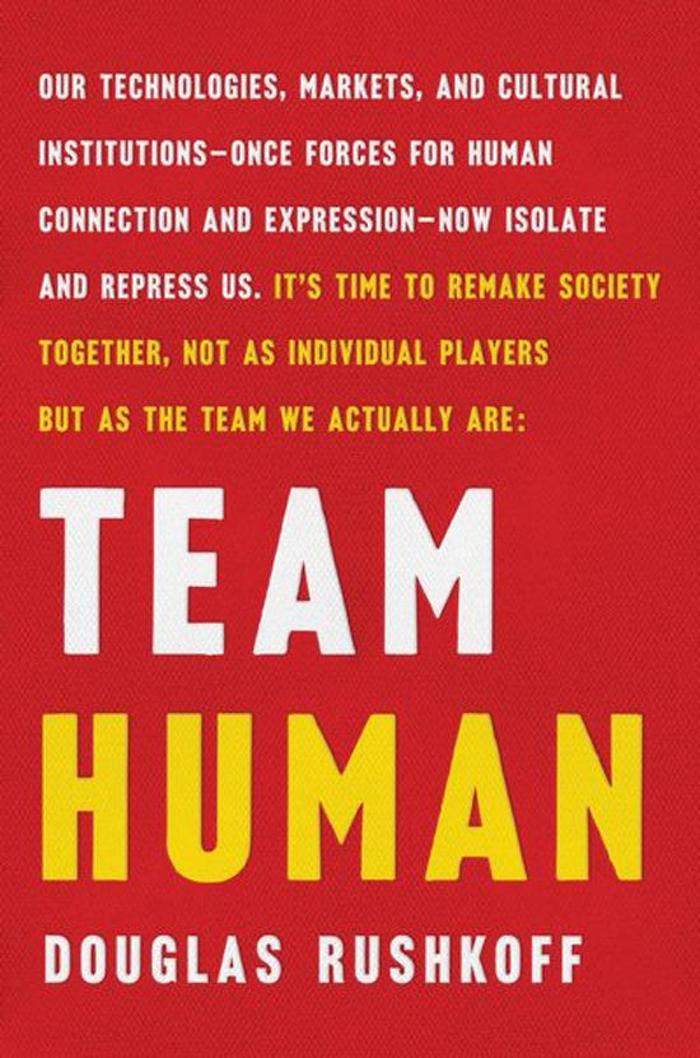 Time humano, o novo livro do perito Douglas Rushkoff com críticas à mídia digital.