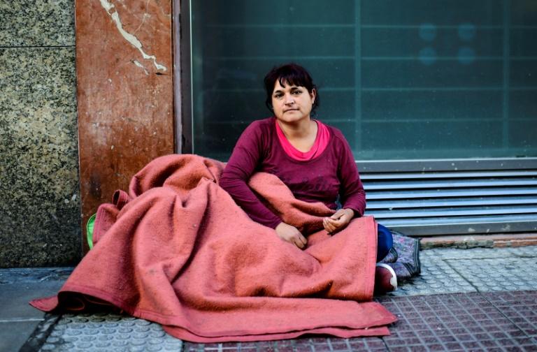 Soledad Sánchez, em uma rua de Buenos Aires, em 18 de outubro de 2019