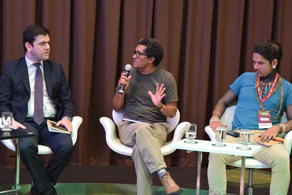 Joaquim Belo do, Conselho Nacional das Populações Extrativistas, falou sobre a luta da população extrativista da Amazônia