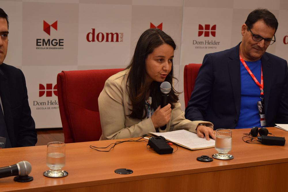 Cáudia Oliveira agradeceu à Dom Helder pelo carinho em receber um seminário de tamanha importância como de Levinas