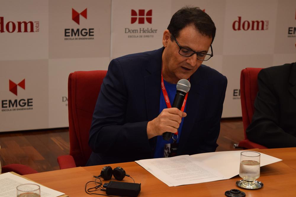O presidente do Cebel, Nilo Ribeiro Junior, fez um discurso de agradecimento e ressaltou a importância de Levinas