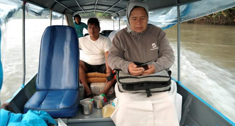 Irmã missionária na Amazônia. (Vatican Media)