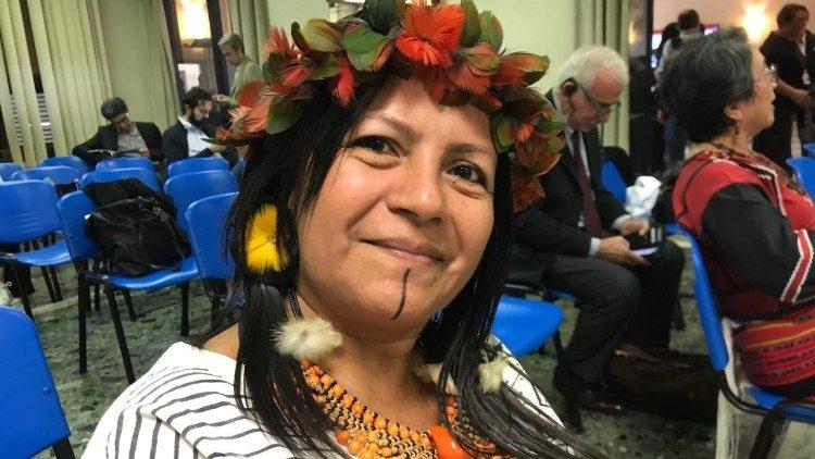 Marcivana, do povo Sateré-Mawe, foi auditora no Sínodo da Amazônia