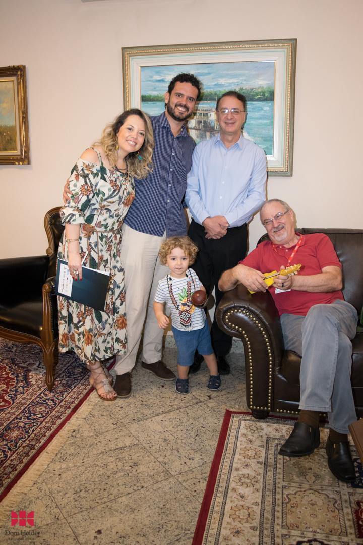 Aramita Greff, Luiz Felipe Lacerda, Paulo Stumpf, SJ e José Ivo Follmann, SJ.