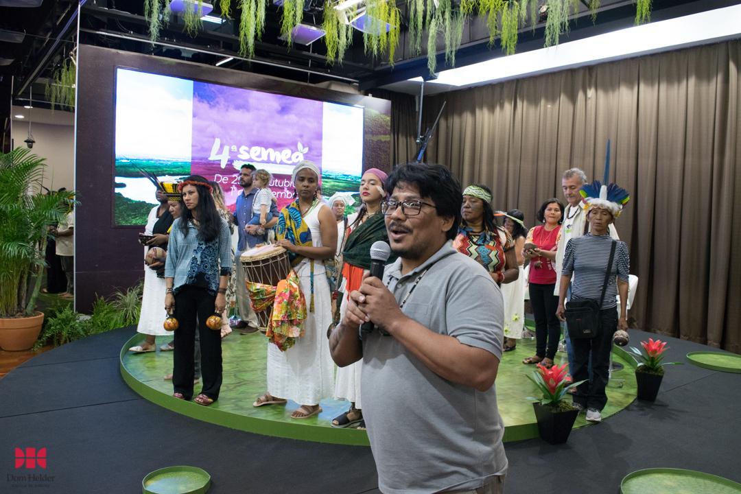 Mesa 'Mulheres dos povos tradicionais da Amazônia: Lutas e desafios' durante a Semea 2019