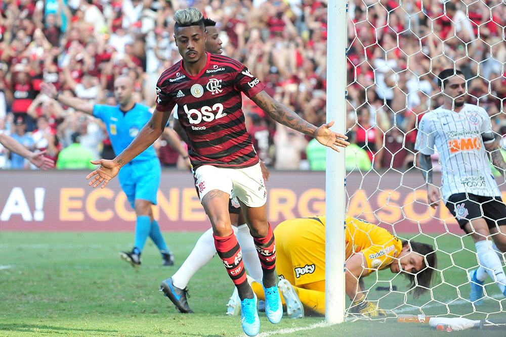 O Jogador Bruno Henrique do Flamengo durante a partida entre Flamengo e Corinthians