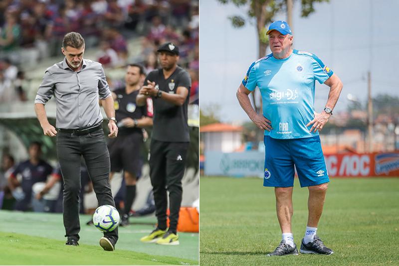 O Atlético de Mancini e o Cruzeiro de Abel têm jogos difíceis pelo Campeonato Brasileiro na noite desta quarta-feira