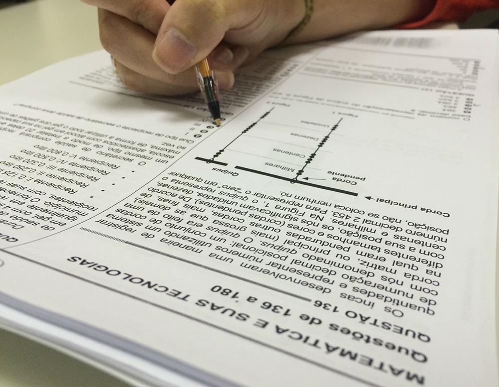 A questão anulada consta no Caderno Azul como número 90; no Caderno Amarelo como 78; no Caderno Branco como 66; e no Caderno Rosa como 72