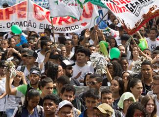 Caminhada EcoDom 2019 para Belo Horizonte e levou mensagem de preservação ambiental (Thiago Ventura/DomTotal)