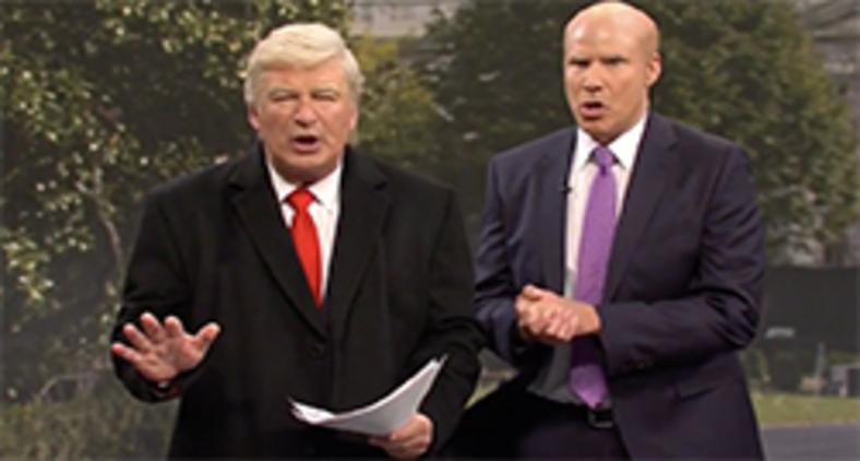 """Alec Baldwin e Will Ferrell apareceram como presidente Trump e Gordon Sondland para abrir o """"Saturday Night Live"""" (NBC)"""
