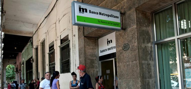 Agência bancária de Havana, em novembro de 2011. (AFP/Arquivos)
