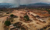 Serrarua em Moraes Almeida, uma cidade ao longo da rodovia Transamazônica, em Itaituba, estado do Pará. (AFP)