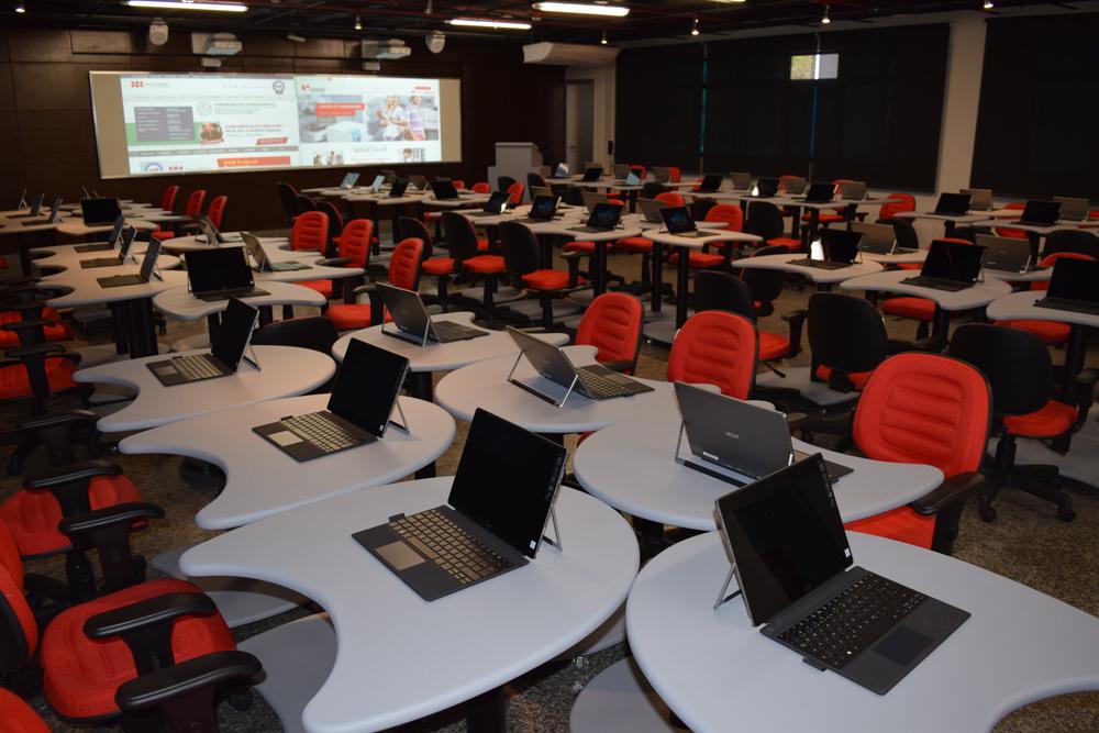 Sala de metodologias, tecnologia de ponta utilizada na Instituição