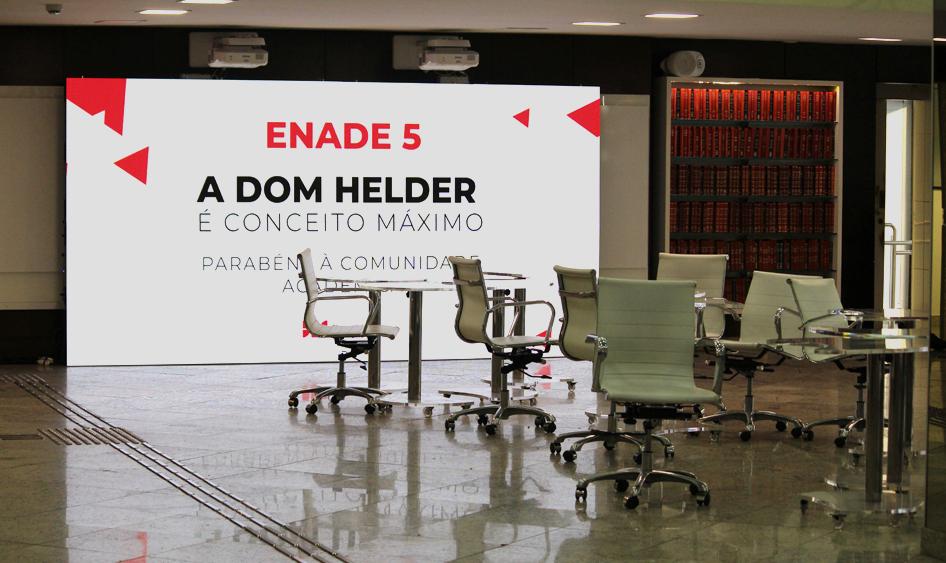 Recepção da Dom Helder Escola de Direito exibe com orgulho a nota máxima no Enade