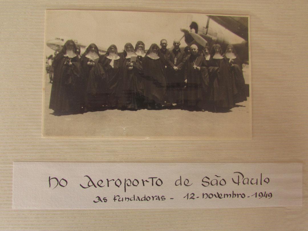 As 12 fundadoras, rumo a Belo Horizonte em 1949.
