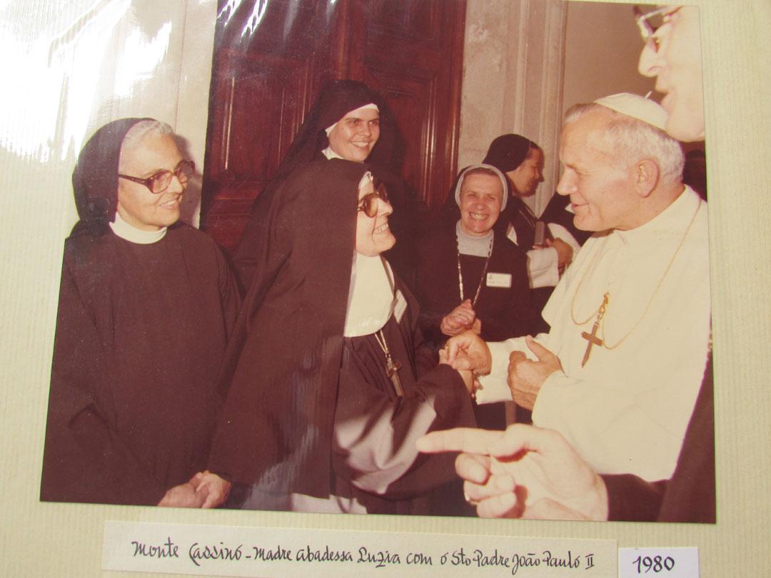 Encontro com São João Paulo II na década de 80