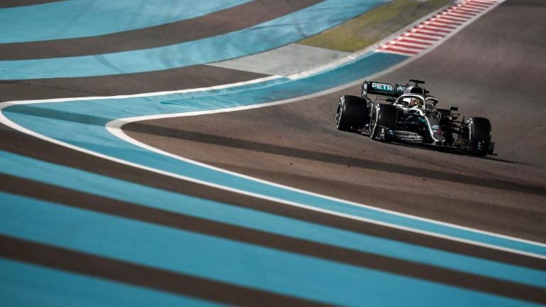 A Mercedes de Lewis Hamilton, campeão do mundo de 2019 e vencedor do último GP da temporada em Abu Dhabi