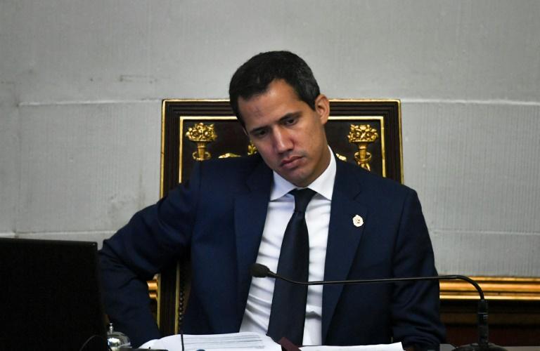 O líder opositor e autoproclamado presidente interino da Venezuela, Juan Guaidó, em Caracas, em 26 de novembro de 2019