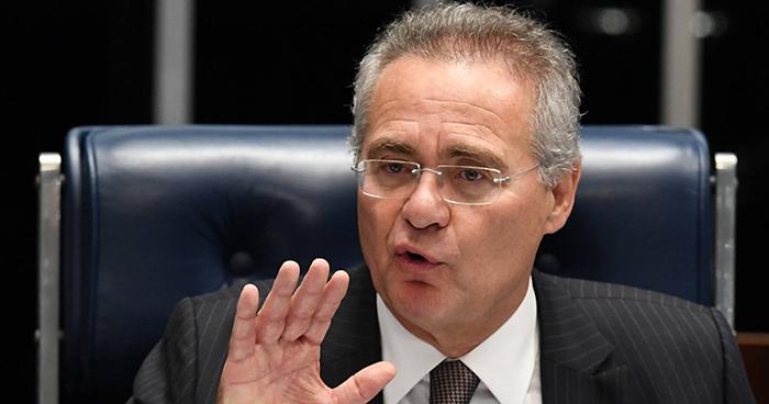 O senador Renan Calheiros (MDB).