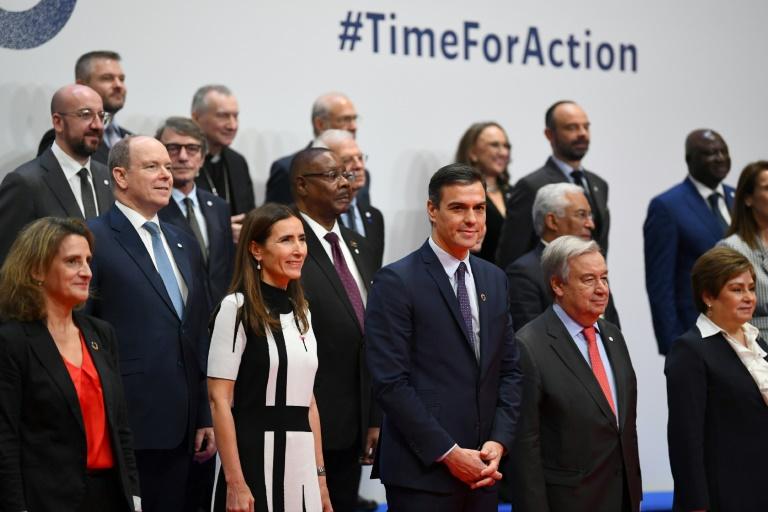 Autoridades reunidas em Madri para a abertura da COP25