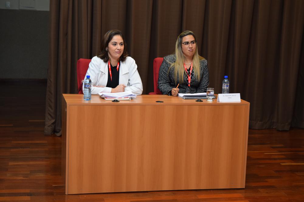 Oradoras durante o simulado internacional do Direito do Mar