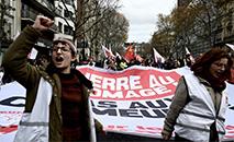 Quarto dia de manifestações e greves na França contra a reforma da Previdência, nesse domingo (8) (AFP)