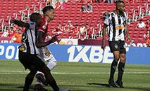 Momento do gol de Otero, do Atlético, durante disputa contra o Inter (WESLEY SANTOS)