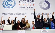 Conferência de imprensa de jovens ativistas pelo clima  (AFP)