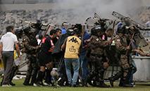 O clube deve sofrer pesada punição do STJD pelo mau comportamento de sua torcida (Telmo Ferreira/FramePhoto/Gazeta Press)