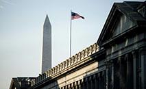 Vista do Departamento do Tesouro americano, em Washington (AFP)