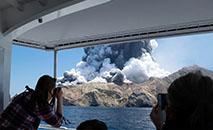 Vulcão da White Island, na Nova Zelândia, pouco depois de erupção (Michael Schade/AFP)