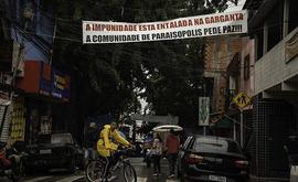 """""""Tínhamos medo de represálias e que eles interferissem nas provas do crime"""", disse o irmão de uma das vítimas (Bruno Rocha/Foto Arena/Estadão Conteúdo)"""