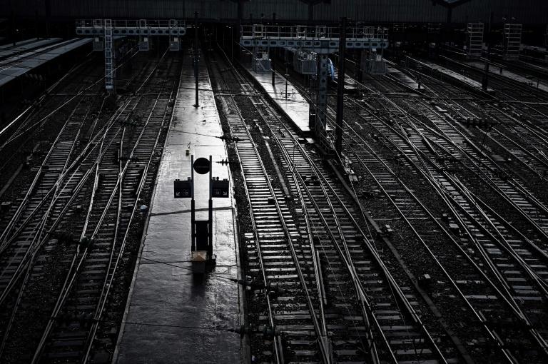 Estação de trem de Saint Lazare, Paris, em 13 de dezembro de 2019