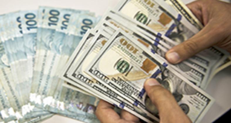 O governo brasileiro mantém o dólar em variação, de acordo com a oferta e procura da moeda e negociações comerciais (Vanderlei Almeida/AFP)