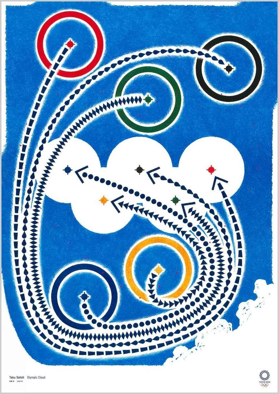 Taku Satoh (Designer Gráfico) Cartazes oficiais para os Jogos Olímpicos Tóquio 2020