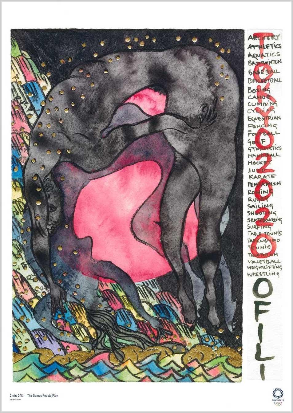 Chris Ofili (Artista) Cartazes oficiais para os Jogos Olímpicos Tóquio 2020