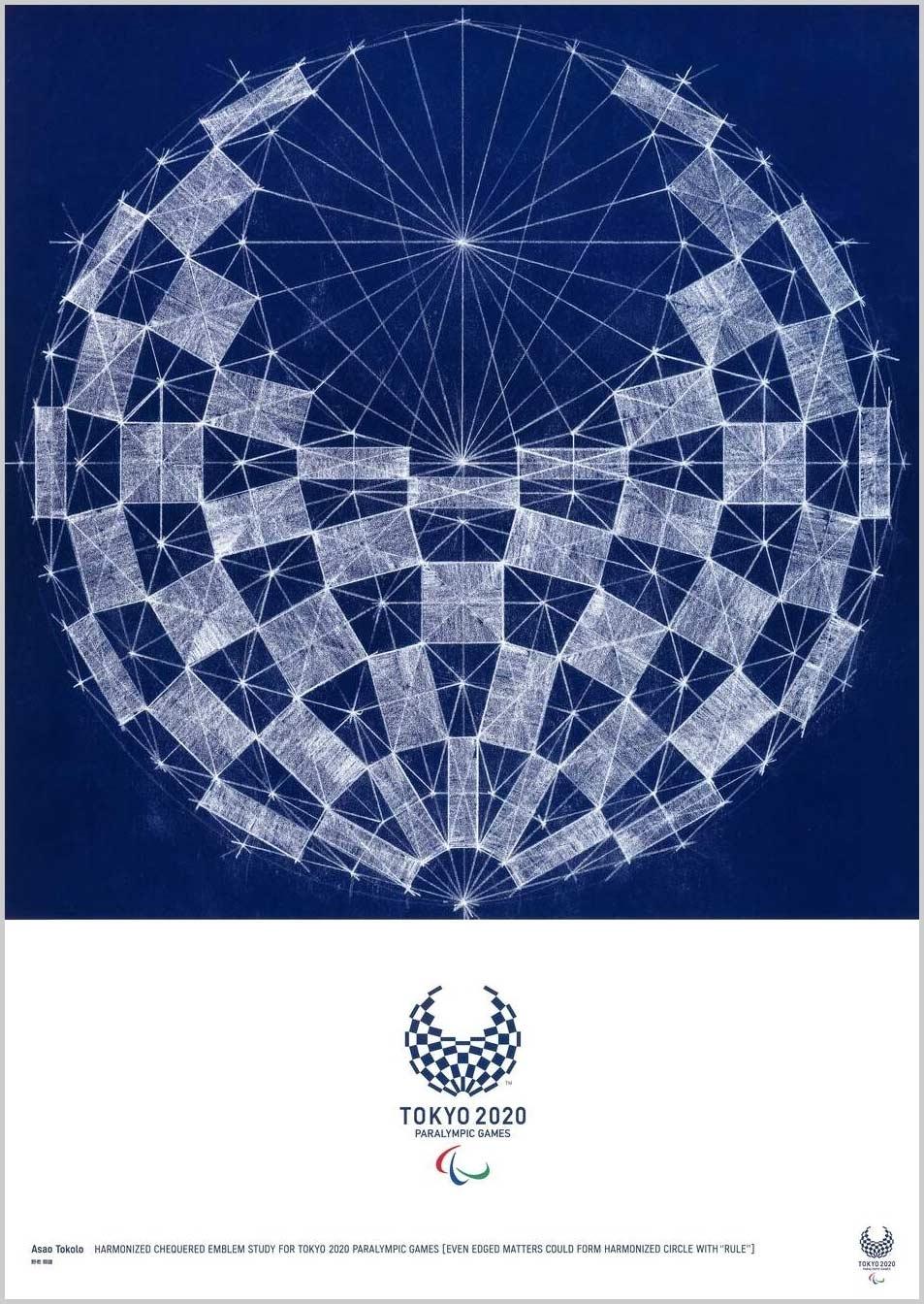 Asao Tokolo (Artista) Cartazes oficiais para os Jogos Olímpicos Tóquio 2020